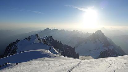 Mont Blanc am Gipfel