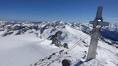 Gipfelkreuz am Schwarzenstein