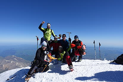 Gipfelsieg am Mount Elbrus