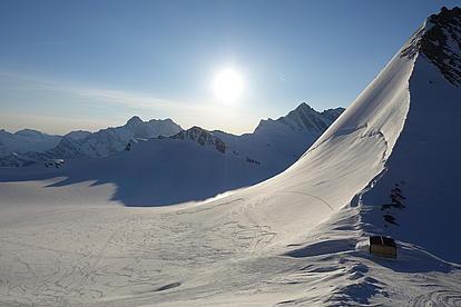 Ausblick auf viele Schweizer 4000er