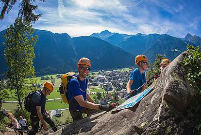 Klettersteig Huterlaner, Gruppe