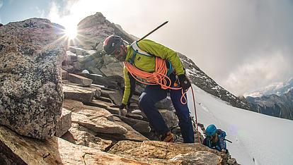 Bergführer Kletterei am Grat