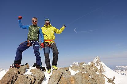 Gipfelsieg in der Schweiz
