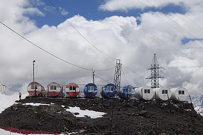 Unser Basislager am Mount Elbrus