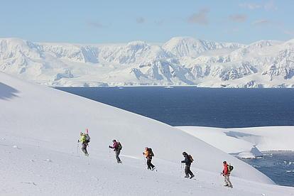 Skitouren in der Antaktis Aufstieg