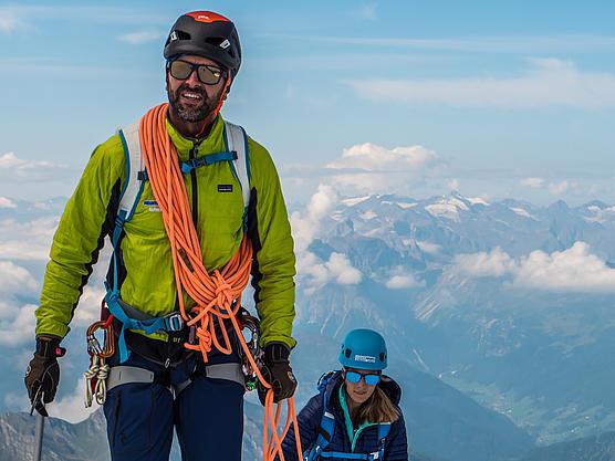 Bergführer mit Gast