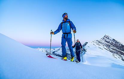 Aufstieg in den Tuxer Alpen