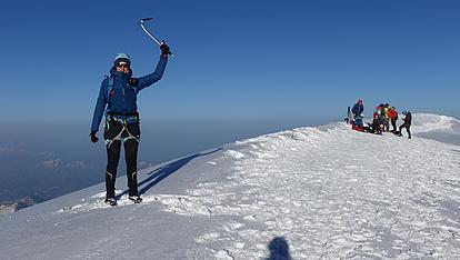 Gipfelsieg am Mont Blanc