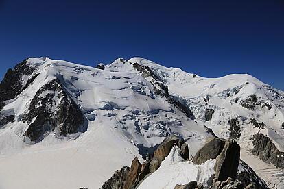 Ausblick zum Mont Blanc