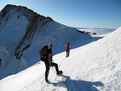 Mit Steigeisen zum Gipfel
