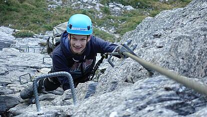 Klettersteig Gerlosstein es wird steil