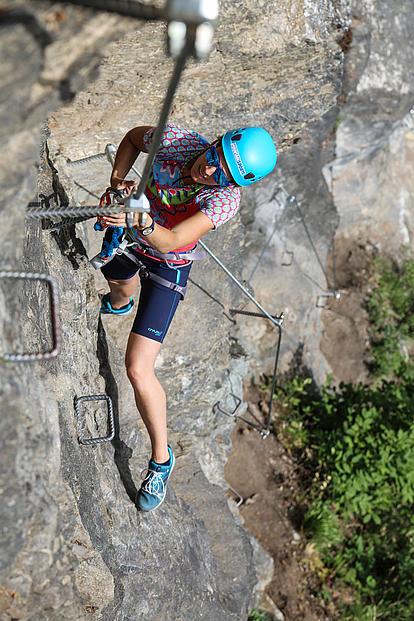 Klettersteig Pfeilspitzwand es wird steil