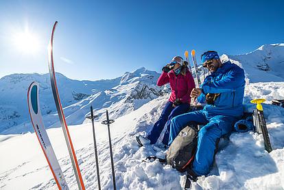 Gipfelrast auf der Frauenwand in den Tuxer Alpen