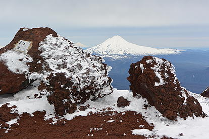 Blick auf einen Vulkan