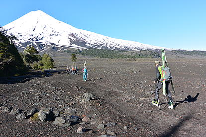 Aufstieg um Vulkan Laima