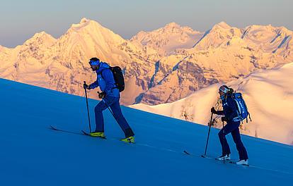 Licht und Schatter bei der Skitour