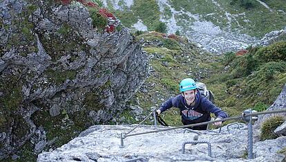 Alpiner Aufschwung am Klettersteig Gerlosstein