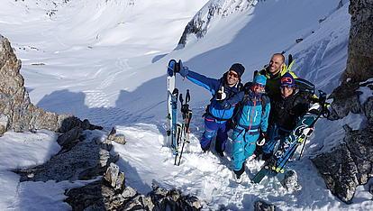 Skitouren in der Krimml tief in der Scharte