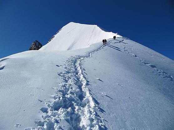 Biancograt Gipfelaufschwung