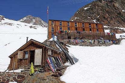 Finsterahornhütte in der Schweiz